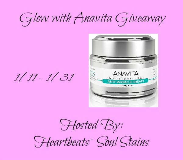 Enter to win the Glow with Anavita Giiveaway