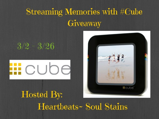 Streaming Memories with #Cube Giveaway. Ends 3/26