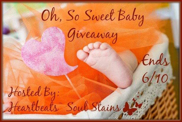 Enter the Oh, So Sweet Baby Giveaway before it ends 6/10 Сute little baby feet peering out of the basket