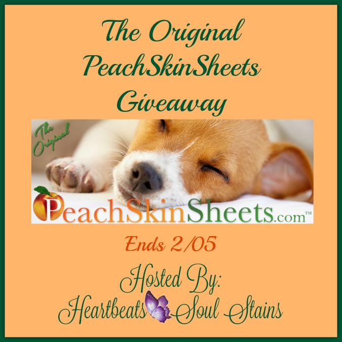 The original peachskinsheets giveaway