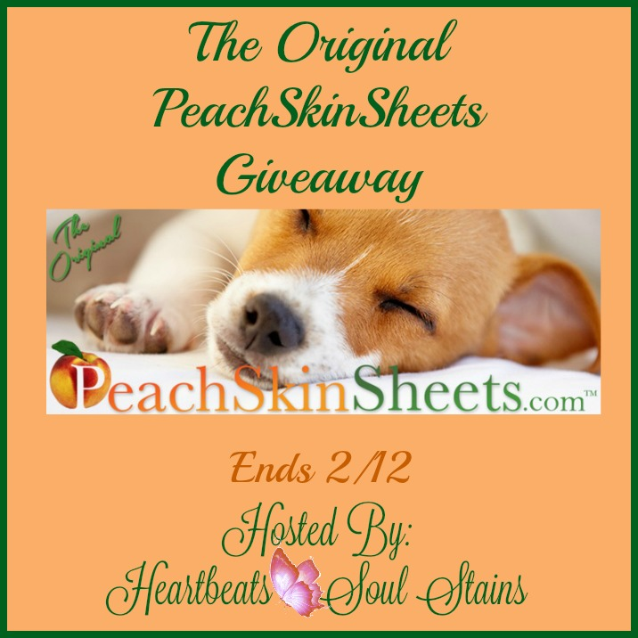 Enter The Original PeachSkinSheets Giveaway. Ends 2/12.